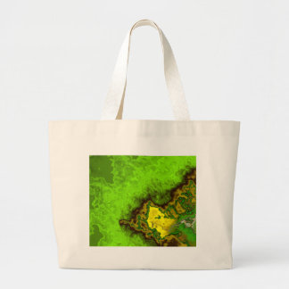 Green Abstract Blob Tote Bags