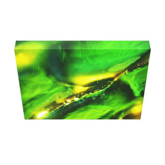 Green abstract bokeh effect print decoration.