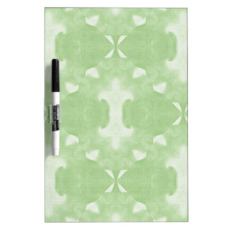 Green Abstract Damask Design Dry Erase Board