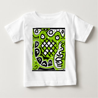 Green abstract design baby T-Shirt