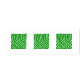 Green Abstract Design. Mini Business Card