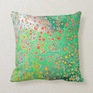 Green Abstract Design Throw Pillow