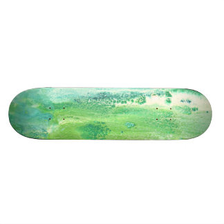 Green Abstract Detail Skateboard