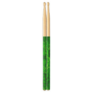 green abstract drumsticks