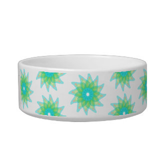 Green abstract flowers bowl
