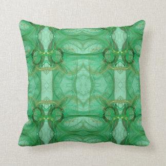Green Abstract Fractal Pillow