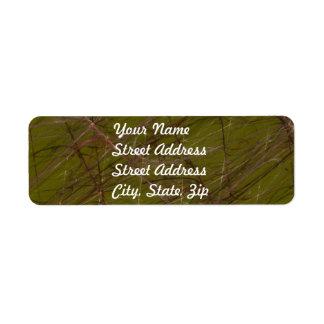 Green Abstract Fractal Return Address Sticker Return Address Label