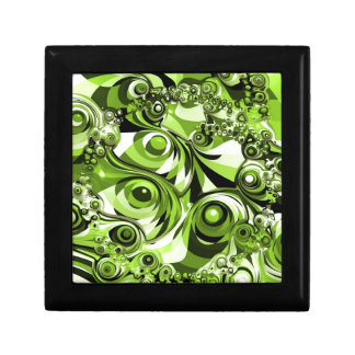 Green abstract gift box