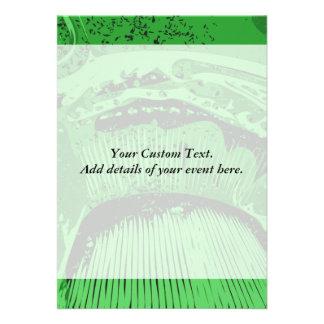 Green Abstract Custom Announcement