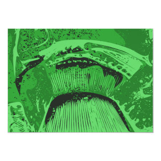 Green Abstract. 5x7 Paper Invitation Card