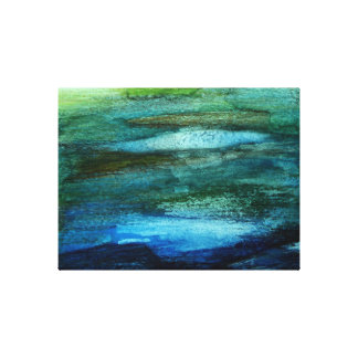 Green Abstract Landscape Wall Art