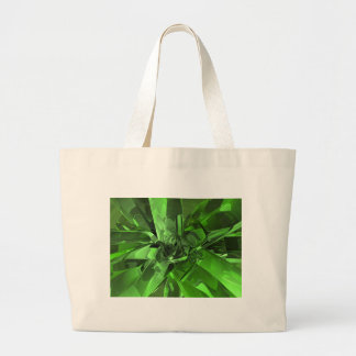 Green Abstract Large Tote Bag
