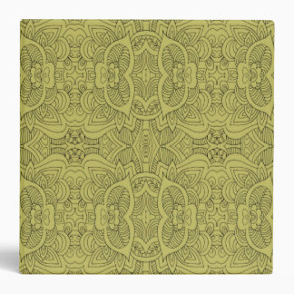 Green Abstract Line Art 3 Ring Binders