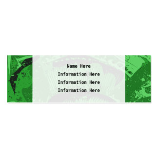 Green Abstract. Mini Business Card