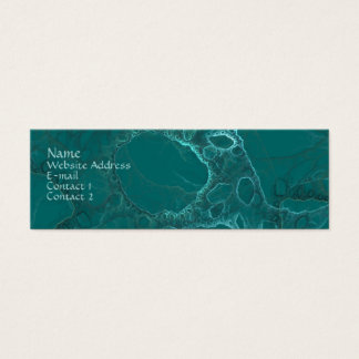 Green Abstract Mini Business Card