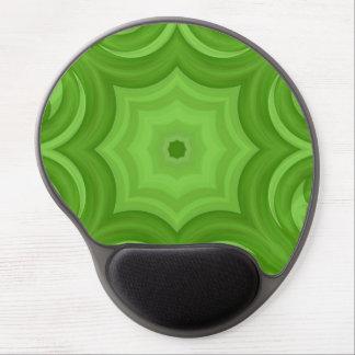 Green abstract modern art gel mousepads