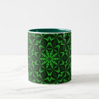 Green Abstract Two-Tone Mug