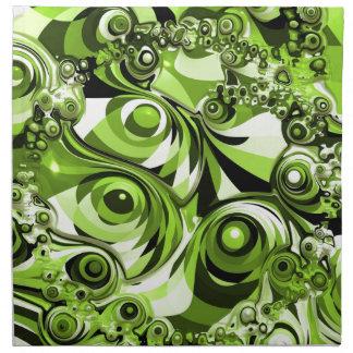 Green abstract napkin