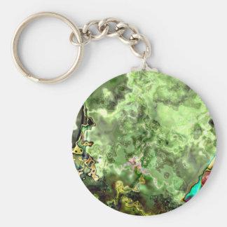 Green Abstract Nebula Key Chain