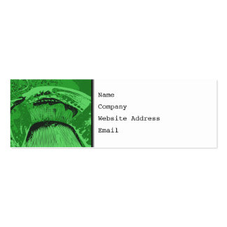 Green Abstract. Pack Of Skinny Business Cards