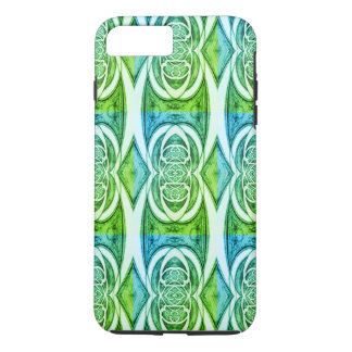 Green Abstract Pattern 2 iPhone 8 Plus/7 Plus Case