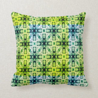 Green Abstract Pattern Throw Pillow