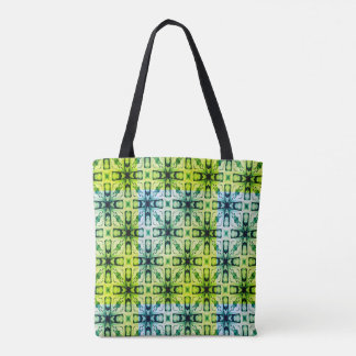 Green Abstract Pattern Tote Bag