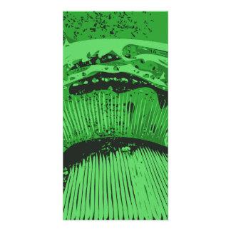 Green Abstract. Photo Greeting Card