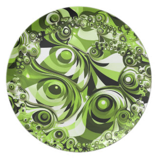 Green abstract plate