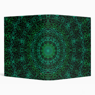 Green Abstract School Binder