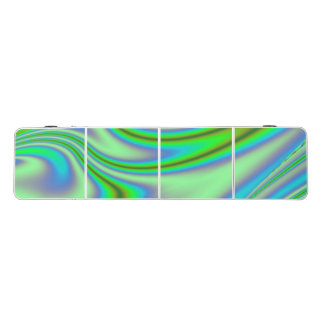 Green Abstract Swirl Beer Pong Table