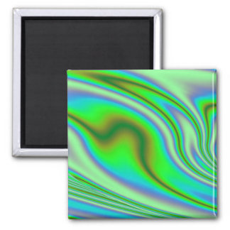 Green Abstract Swirl Magnet