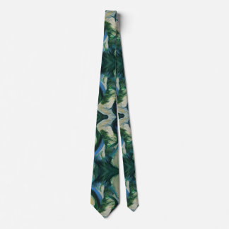 Green Abstract Tie