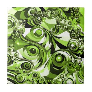Green abstract tile