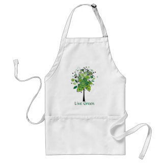 Green Abstract Tree Aprons