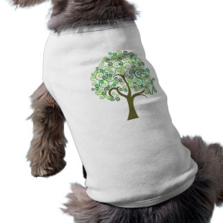 Green Abstract Tree Pet Clothes