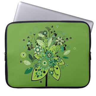 Green Abstract Tree Laptop Sleeve