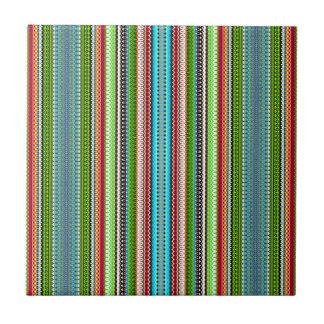 Green Abstract Tribal Chevron Tile