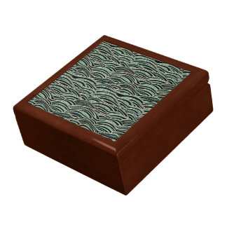Green abstract waves pattern. Sea texture. Gift Box