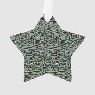 Green abstract waves pattern. Sea texture. Ornament