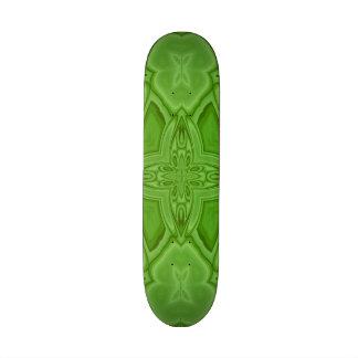 Green abstract wood pattern custom skate board