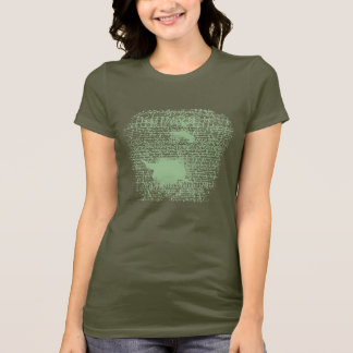 "Green ""Accept"" Stamped Shirt"