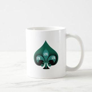 Green ace of spades elegant style coffee mug