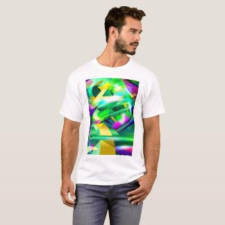GREEN-ACID Cubism Digital Abstract Art # 07 T-Shirt