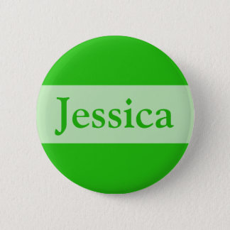 green Add your name 2 Inch Round Button