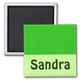 green Add your name Square Magnet
