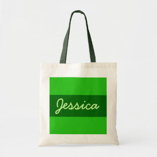 green Add your name Tote Bag