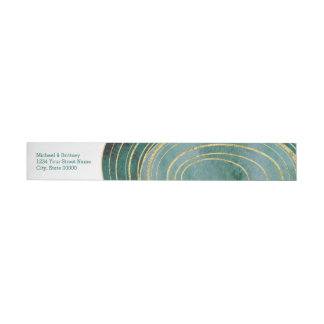 Green Agate Watercolor | Wrap Address Label Wraparound Address Label