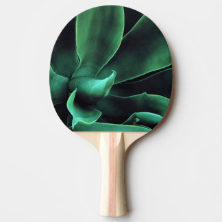 Green Agave Attenuata Ping-Pong Paddle