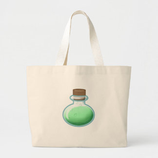 Green Alchemy Bottle Large Tote Bag